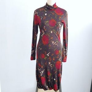 Moschino Cheap and Chic Floral Long Sleeve Dress